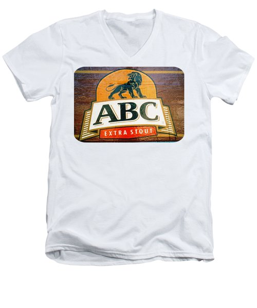 Men's V-Neck T-Shirt featuring the photograph Abc Stout by Ethna Gillespie