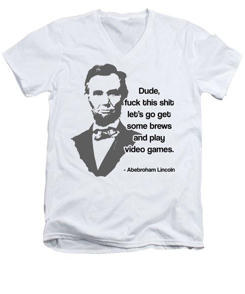 Abebroham Lincoln Men's V-Neck T-Shirt