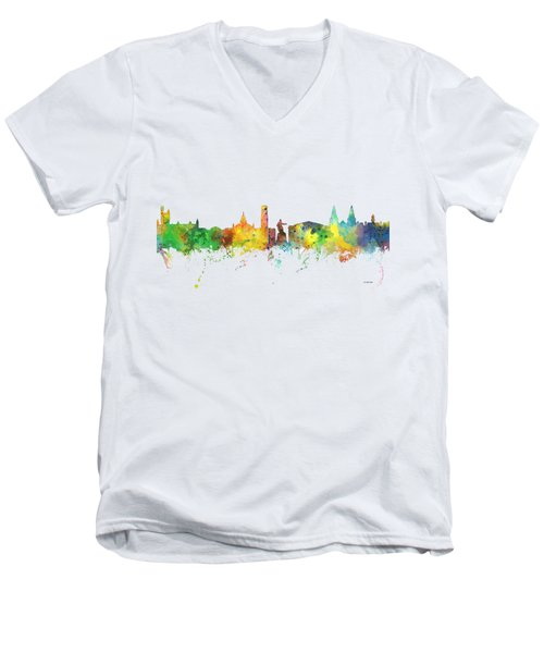 Aberdeen Scotland Skyline Men's V-Neck T-Shirt
