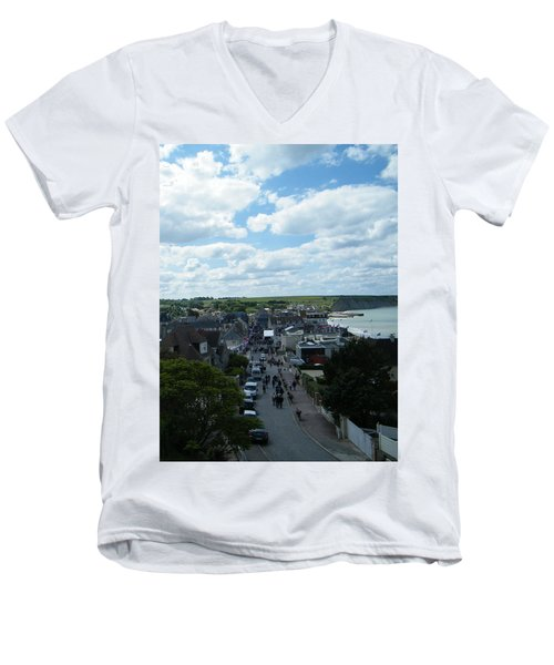 Above Arromanches-les-bains Men's V-Neck T-Shirt