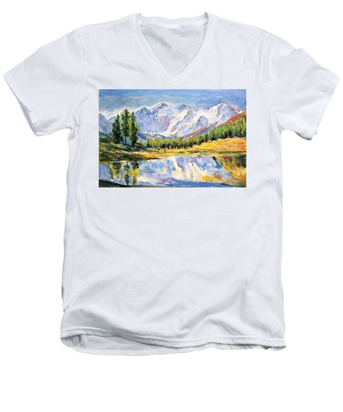 Above The Sea Level Men's V-Neck T-Shirt