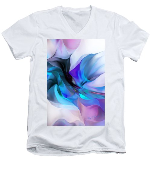 Abstract 012513 Men's V-Neck T-Shirt