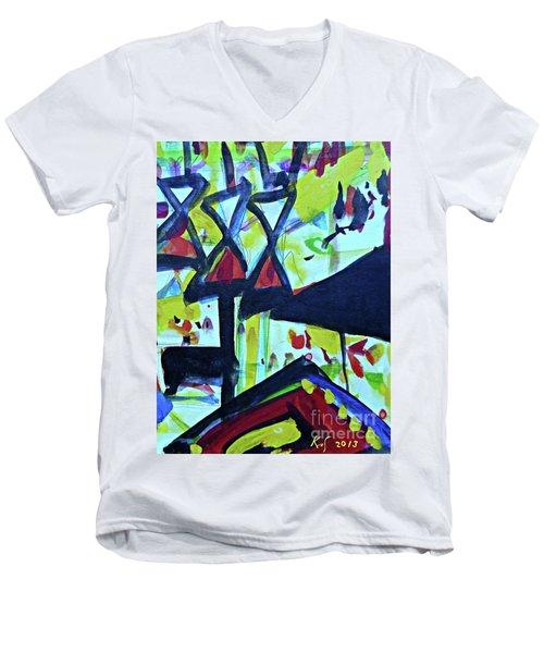Abstract-27 Men's V-Neck T-Shirt