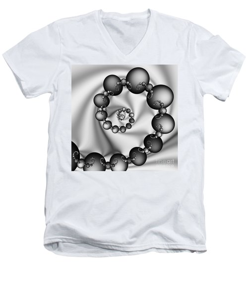 Abstract 537 Bw Men's V-Neck T-Shirt