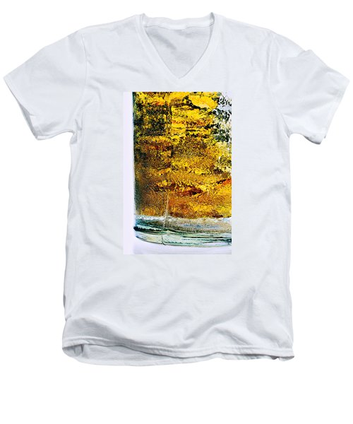 Abstract #8442 Men's V-Neck T-Shirt by Andrey Godyaykin