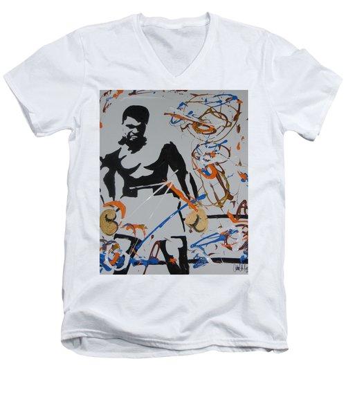 Abstract Ali Men's V-Neck T-Shirt