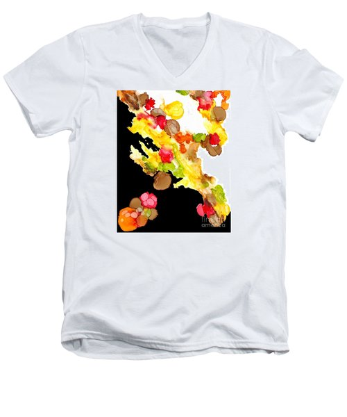 Abstract Bouquet Men's V-Neck T-Shirt
