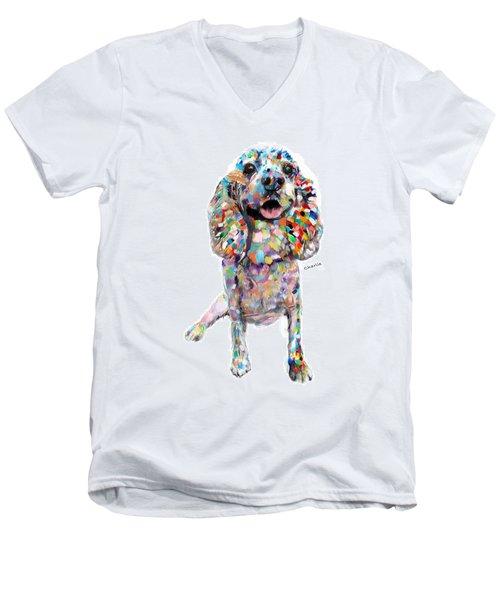 Abstract Cocker Spaniel Men's V-Neck T-Shirt