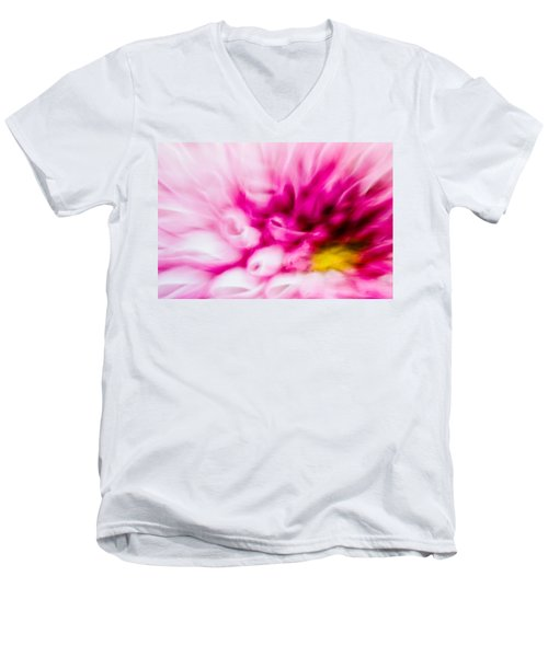 Abstract Floral No. 1 Men's V-Neck T-Shirt