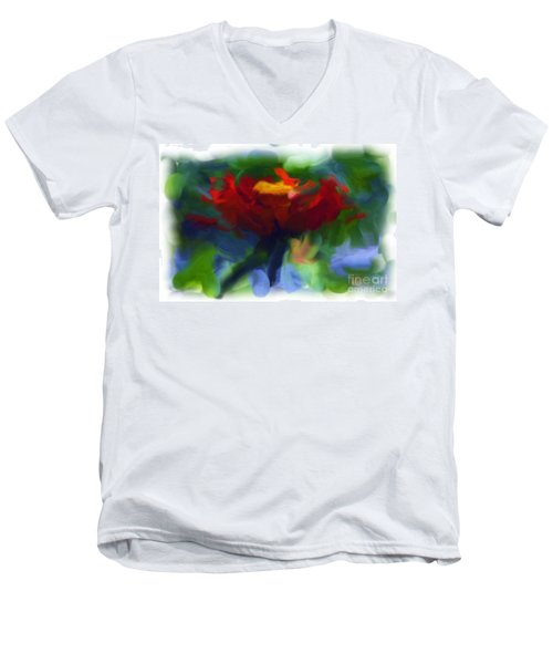Abstract Flower Expressions 2 Men's V-Neck T-Shirt