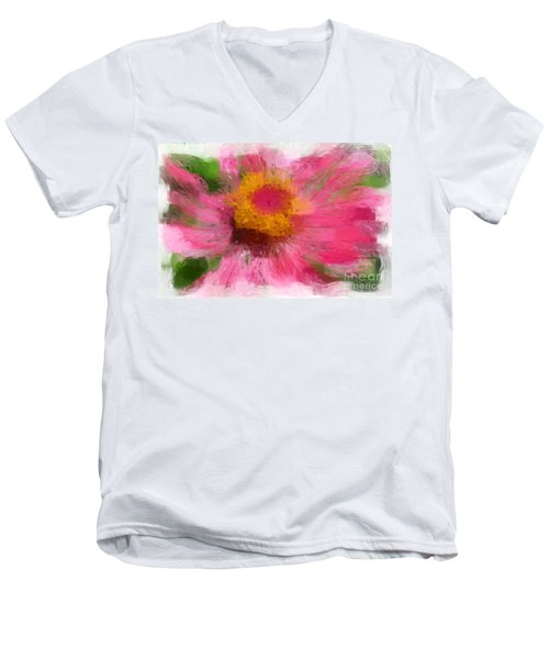 Abstract Flower Expressions Men's V-Neck T-Shirt