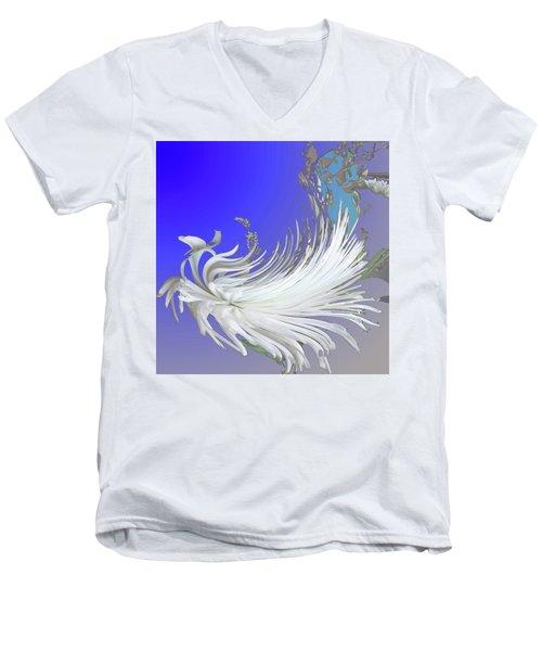 Abstract Flowers Of Light Series #4 Men's V-Neck T-Shirt