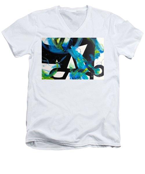 Study In Blue I Men's V-Neck T-Shirt