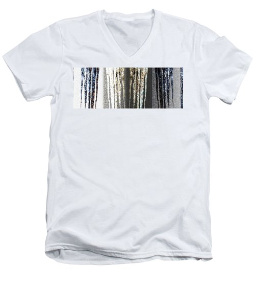Men's V-Neck T-Shirt featuring the digital art Abstract Icicles by Will Borden