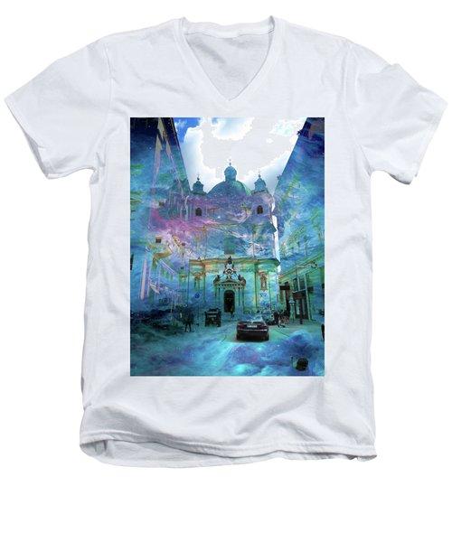 Abstract  Images Of Urban Landscape Series #9 Men's V-Neck T-Shirt