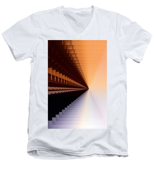 Abstract Industrial Sunrise Men's V-Neck T-Shirt by Scott Cameron