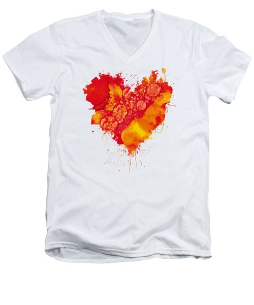 Abstract Intensity Men's V-Neck T-Shirt by Nikki Marie Smith