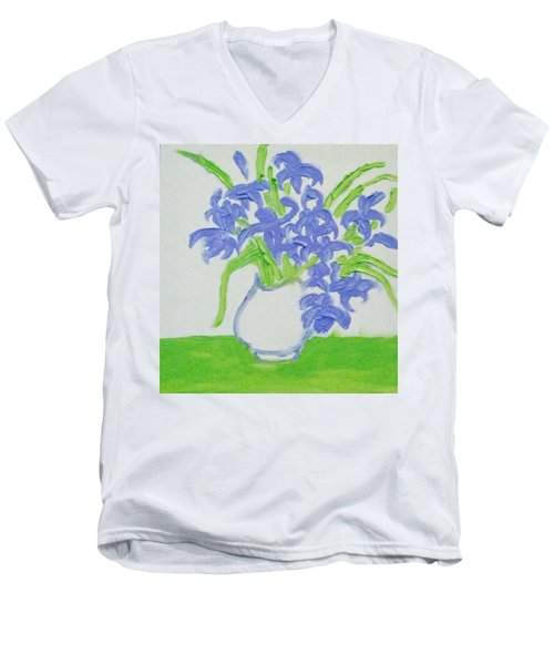 Abstract Iris Men's V-Neck T-Shirt