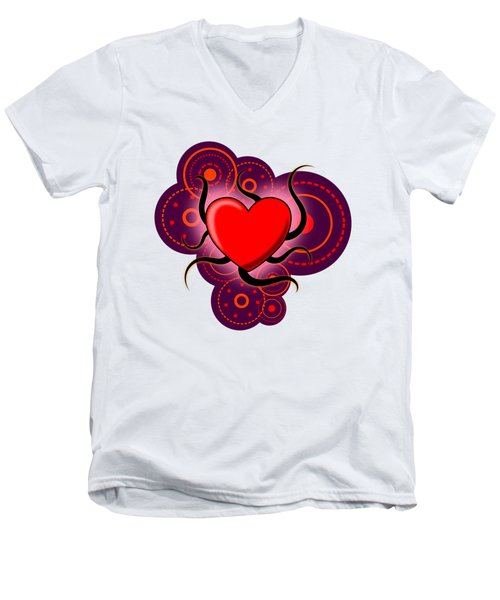 Abstract Love Men's V-Neck T-Shirt by Martin Capek