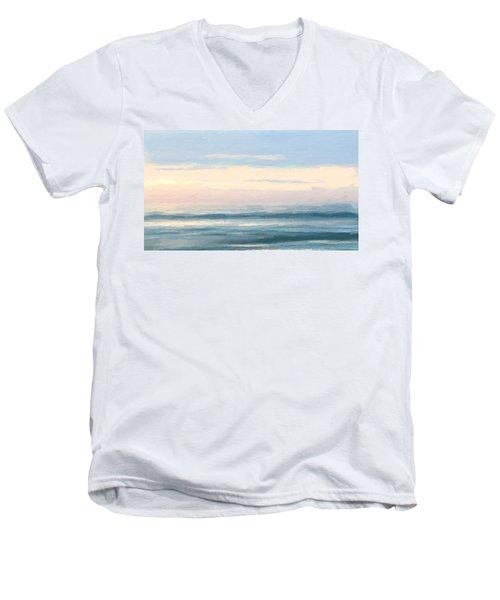 Abstract Morning Sea Men's V-Neck T-Shirt