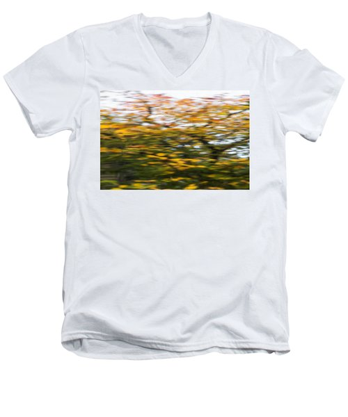 Abstract Of Maple Tree Men's V-Neck T-Shirt