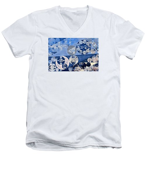 Abstract Painting - Blue Whale Men's V-Neck T-Shirt by Vitaliy Gladkiy