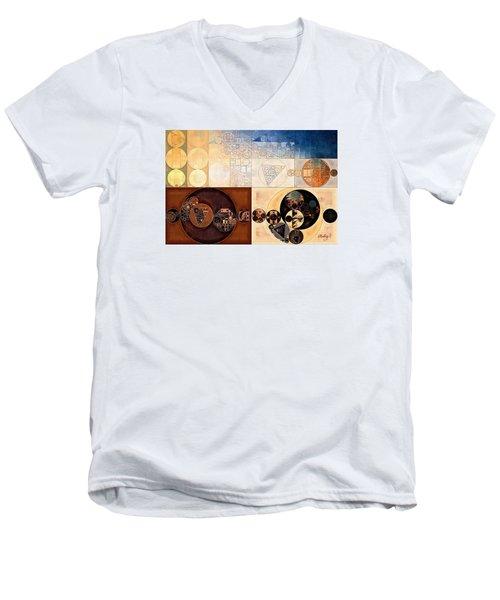 Abstract Painting - Dairy Cream Men's V-Neck T-Shirt by Vitaliy Gladkiy