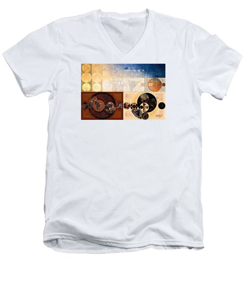 Abstract Painting - Dairy Cream Men's V-Neck T-Shirt