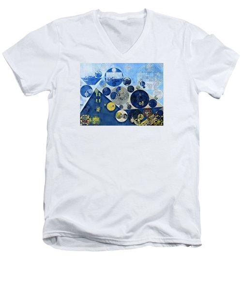 Abstract Painting - Kashmir Blue Men's V-Neck T-Shirt by Vitaliy Gladkiy