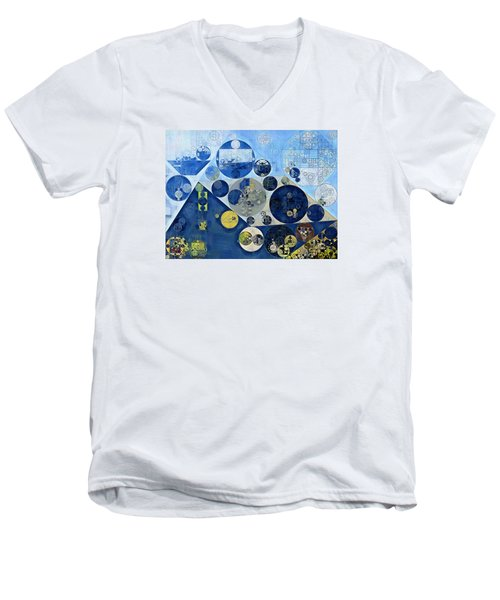 Abstract Painting - Kashmir Blue Men's V-Neck T-Shirt