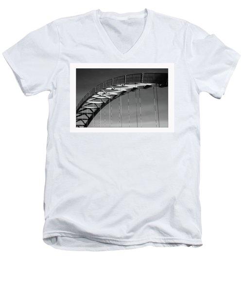 Abstract Sky Men's V-Neck T-Shirt