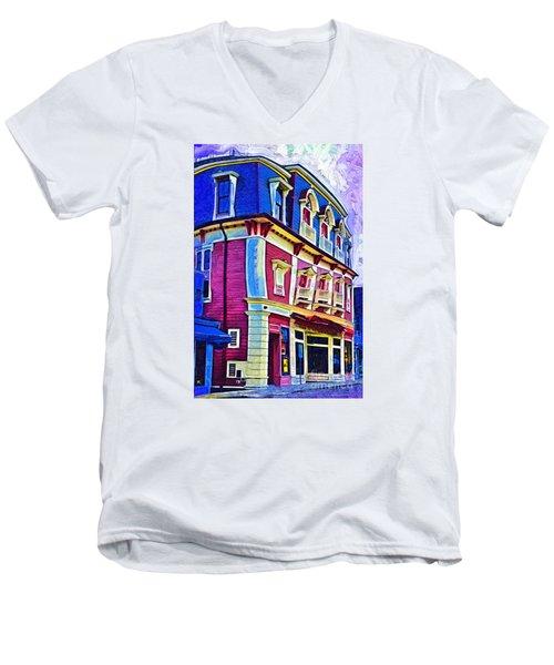 Abstract Urban Men's V-Neck T-Shirt