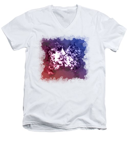 Abstraction Of The Ink Kiss  Men's V-Neck T-Shirt by Anton Kalinichev