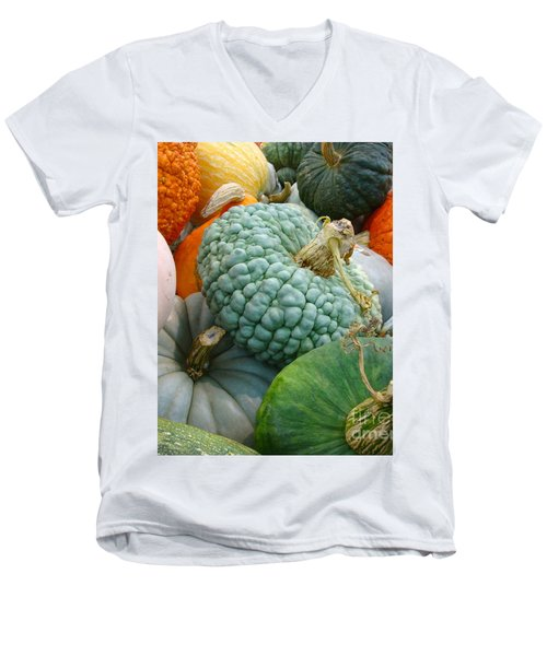 Men's V-Neck T-Shirt featuring the photograph Abundant Harvest by Cathy Dee Janes