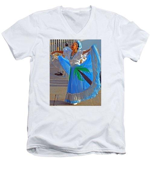 Acapulco  Dancer Men's V-Neck T-Shirt