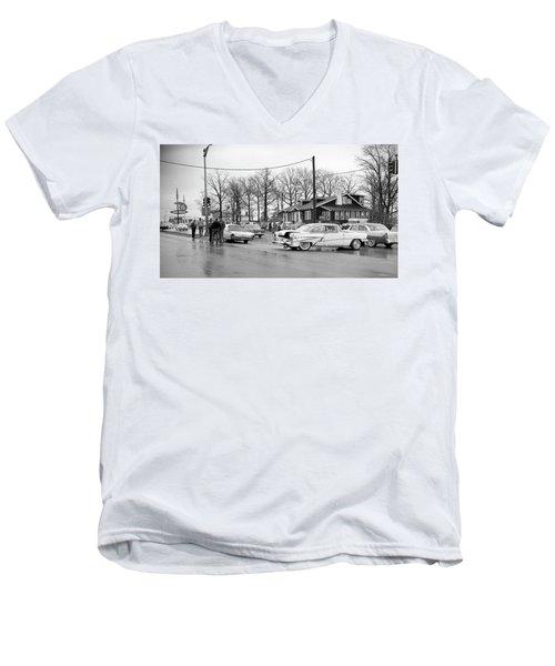 Accident 1 Men's V-Neck T-Shirt by Paul Seymour