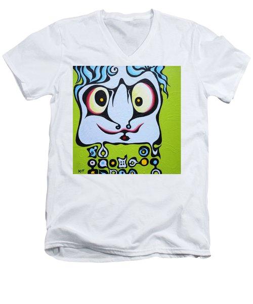 Ace Kid Mark Men's V-Neck T-Shirt