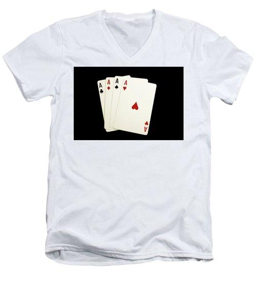Aces Men's V-Neck T-Shirt