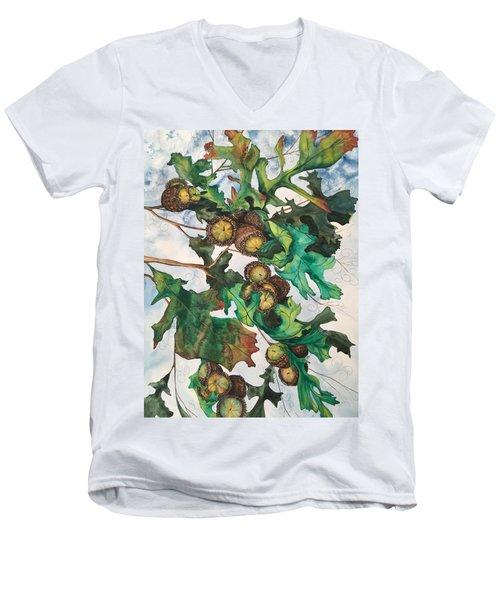 Acorns On An Oak  Men's V-Neck T-Shirt