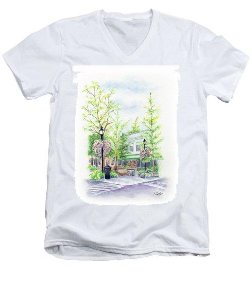 Across The Plaza Men's V-Neck T-Shirt