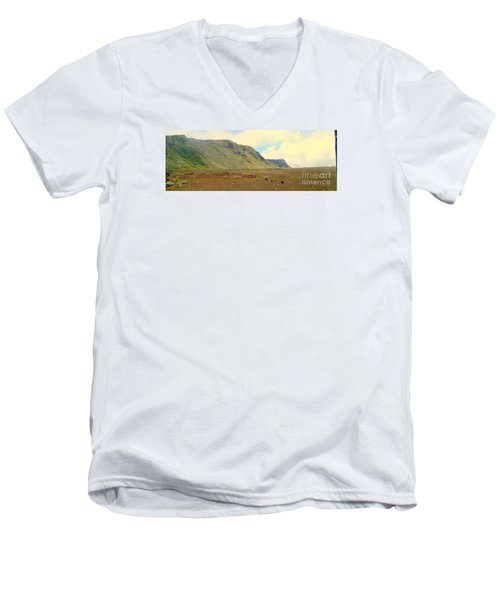 Active Volcano Men's V-Neck T-Shirt by John Potts