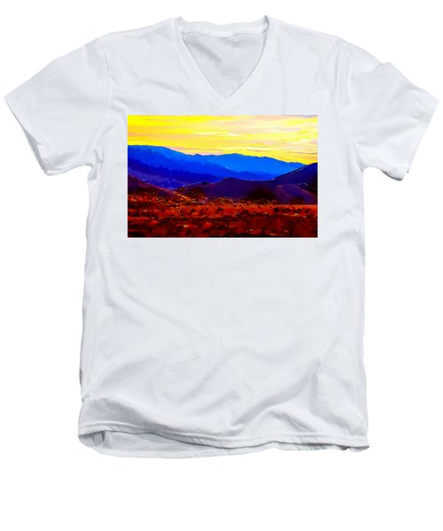 Acton California Sunset Men's V-Neck T-Shirt