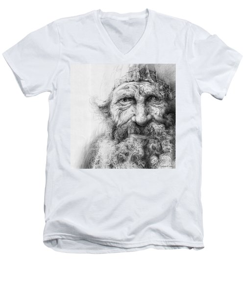 Adam. Series Forefathers Men's V-Neck T-Shirt