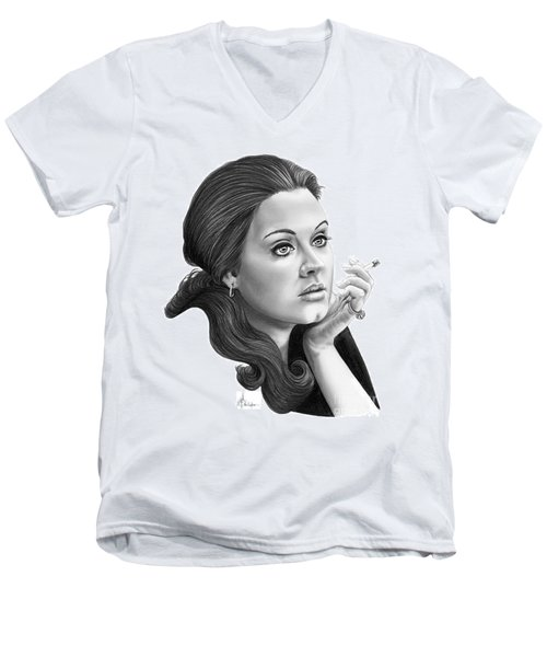Adele Men's V-Neck T-Shirt by Murphy Elliott