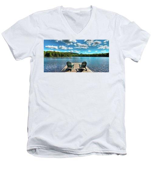 Adirondack Panorama Men's V-Neck T-Shirt