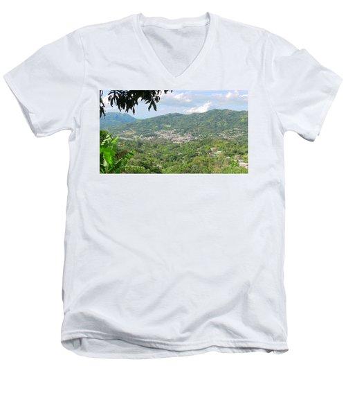 Adjuntas Town Men's V-Neck T-Shirt
