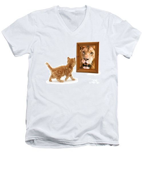 Admiring The Lion Within Men's V-Neck T-Shirt