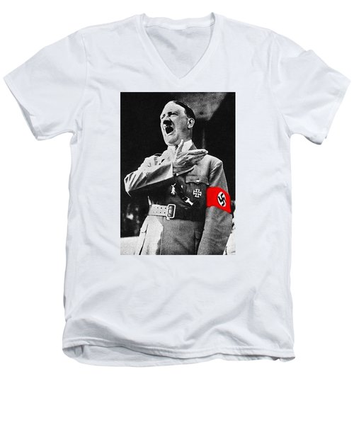 Adolf Hitler Ranting 1  Men's V-Neck T-Shirt
