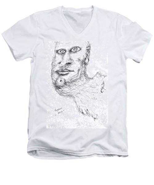 Adrift Men's V-Neck T-Shirt by Dan Twyman