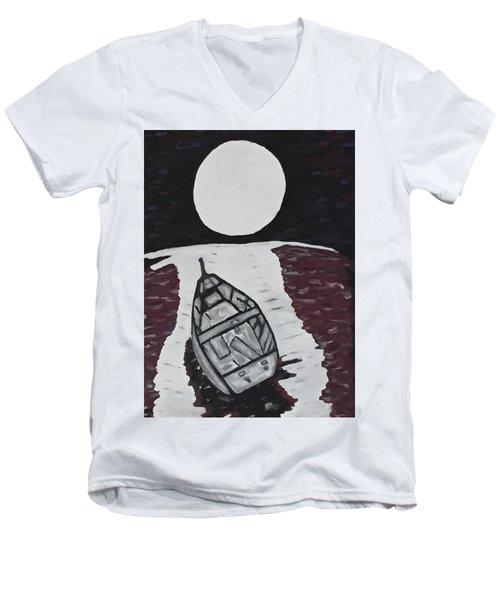 Adrift Men's V-Neck T-Shirt by Jonathon Hansen